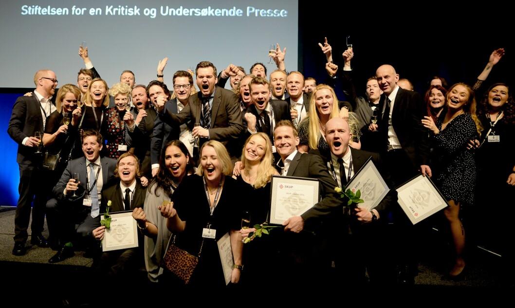 VG jubler for SKUP-priser og diplomer.