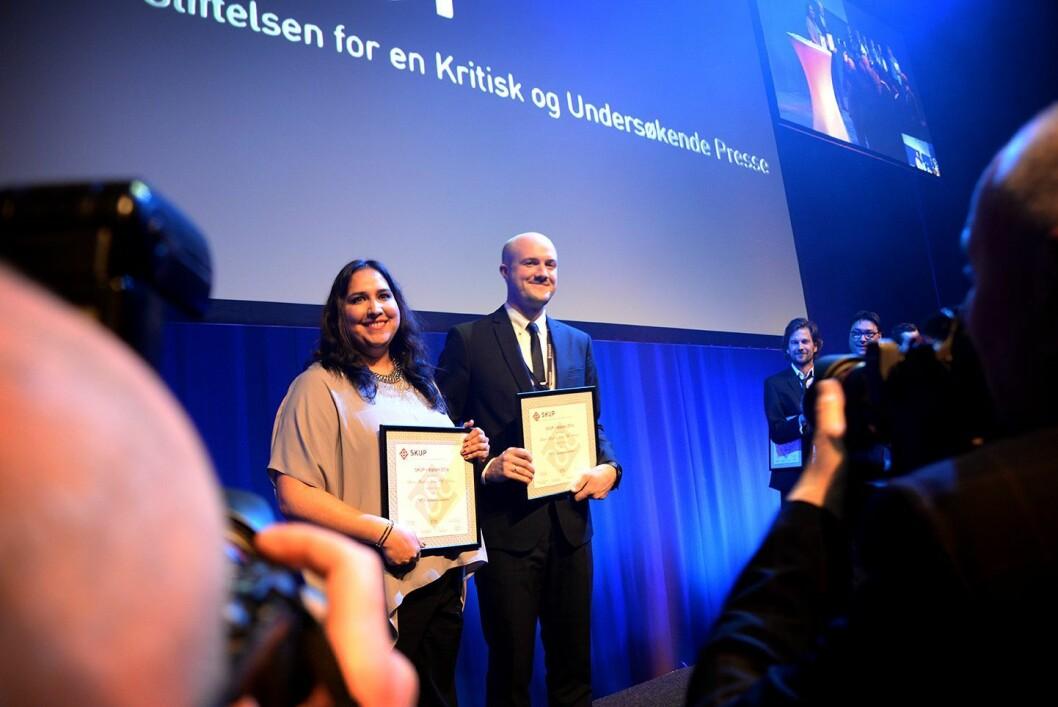 """VG fikk også SKUP-diplom for """"Bistandsmillionene"""" om UDs bruk av bistandskonsulenter av Erlend Ofte Arntsen og Shazia Majid."""