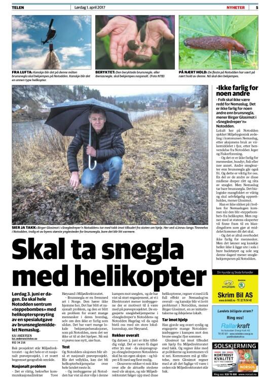 Aprilspøken fra lokalavisa på Notodden.