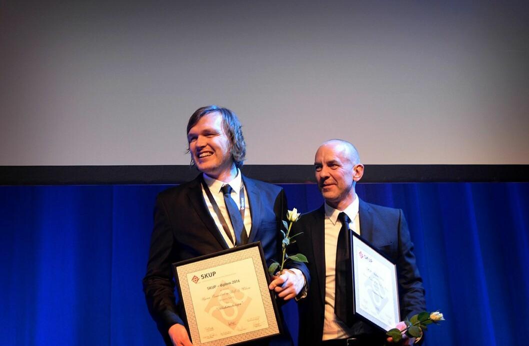 """""""Advokaten og torpedoen"""" om Oslo-advokaten Amir Mirmotahari fikk SKUP-diplom. Saken er laget av av Bjørnar Tommelstad og Rolf J. Widerøe i VG."""