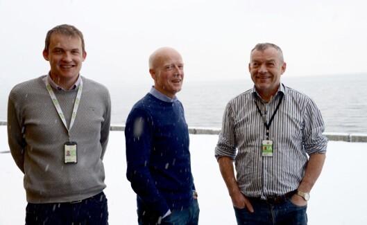 Tre av de Difi-ansatte som jobber med OEP og framtidas eInnsyn, fra venstre: Jakob André Sandal, Stein Magne Os og Gunnar Urtegaard.