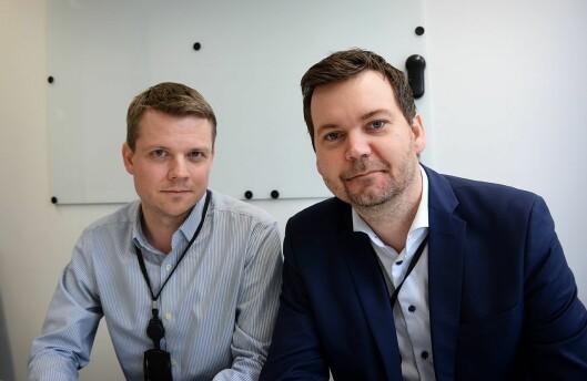 Nyhetsleder Lars Håkon Grønning og seksjonsleder Anders Sooth Knutsen i VGs dagsorden-avdeling.