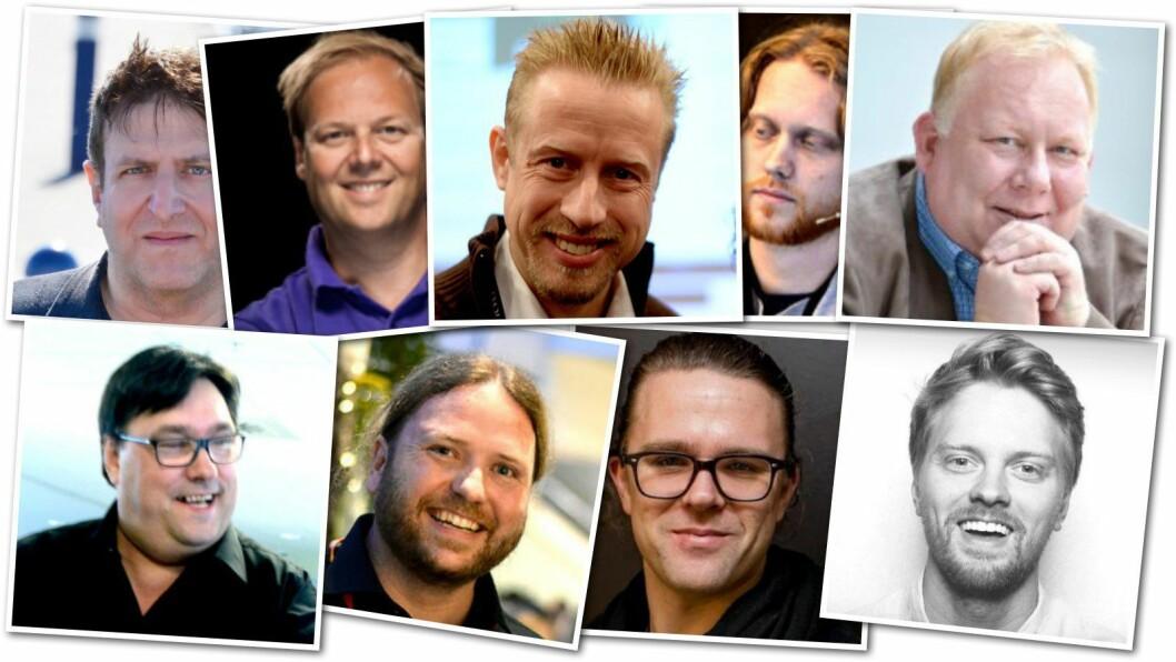 Finn en feil: Disse ni og politioverbetjent Finn Erik Rødsand stod på programmet til SKUPs graveskole i år.