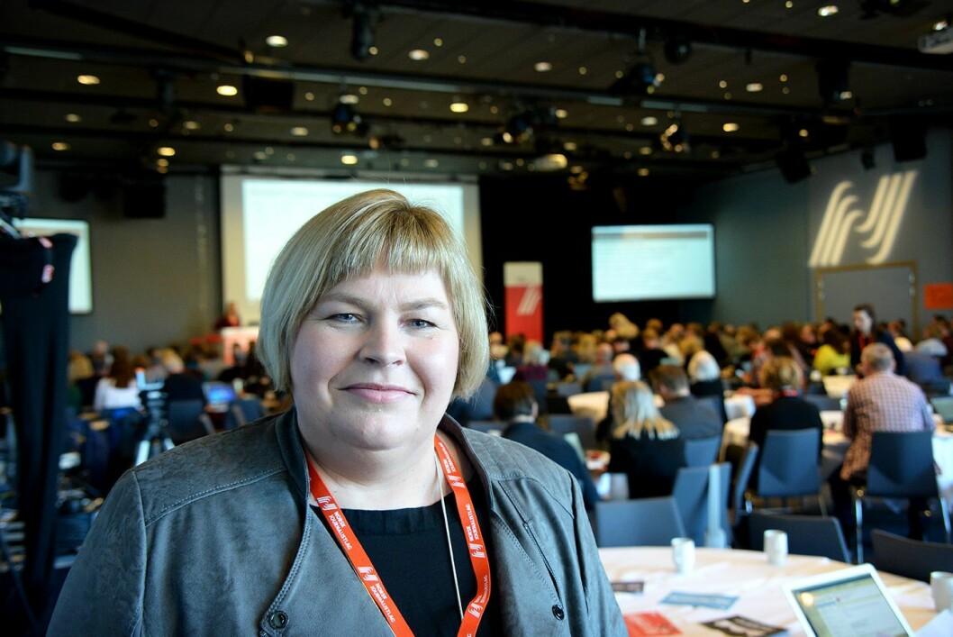 Generalsekretær Elin Floberghagen i Norsk Presseforbund under NJs landsmøte.