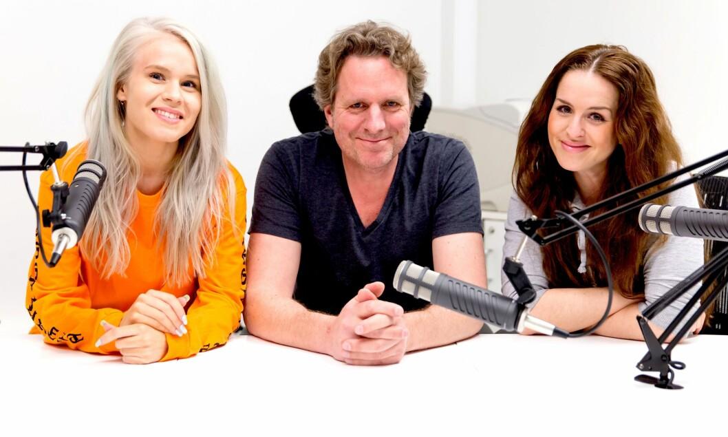 Fra venstre: Astrid-Helen Holm (redaktør Side2), Anders Høglund (redaktør Lyd), Anne-Victoria Frogner (senior produktsjef blogg).