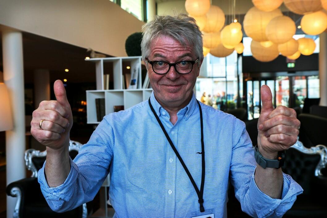 Redaktør og daglig leder Andreas Reitan i Nea Radio under Norsk Lokalradioforbunds konferanse i Stavanger i helga.