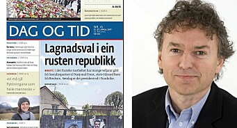 Avisen Dag og Tid får Fritt Ords pris 2017 for å være en pådriver for grundig og seriøs journalistikk