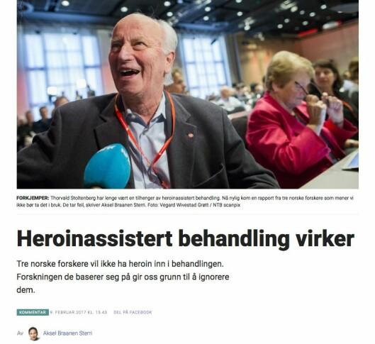 Kommentar fra (tidligere) Dagblad-kommentator Aksel Braanen Sterri.