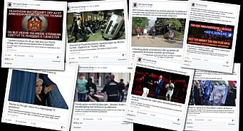 Denne høyrevridde Facebook-siden forfalsker lenker fra en rekke medier. Nå har Nettavisen anmeldt slik svindel til politiet