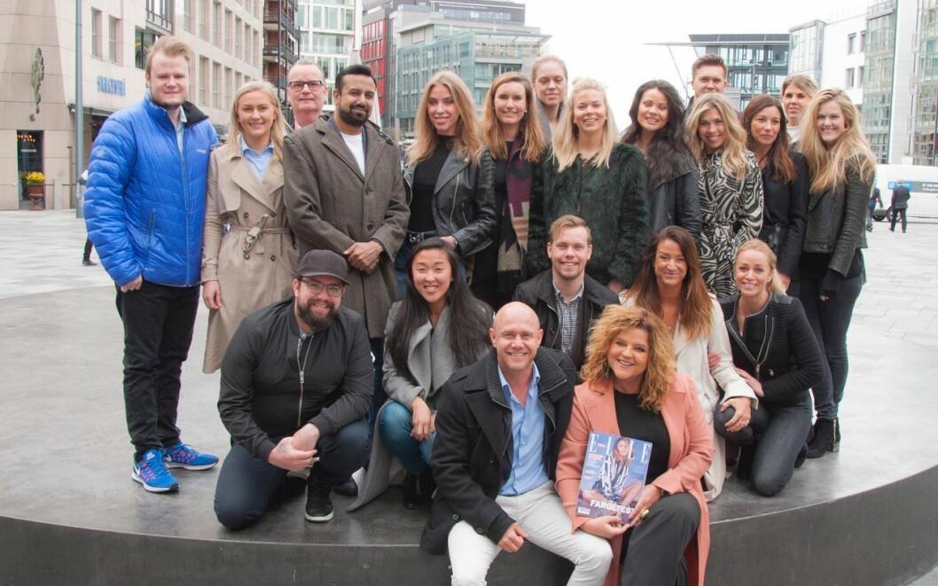United Influencers og ELLE - her samlet på Aker brygge, hvor ukebladet nå flytter inn.