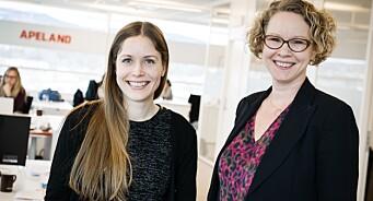Apeland styrker seg på analyse og digitalt: Ansetter Ingrid Hognaland og Trine Knudsen Dabbadie