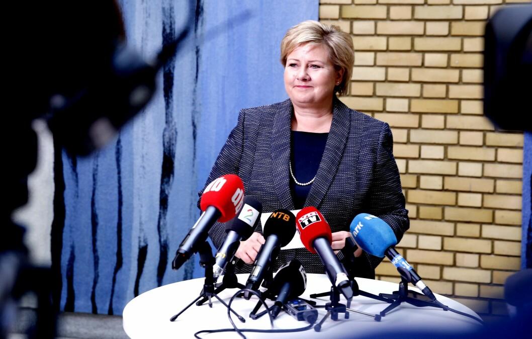 Statsminister og Høyre-leder Erna Solberg.