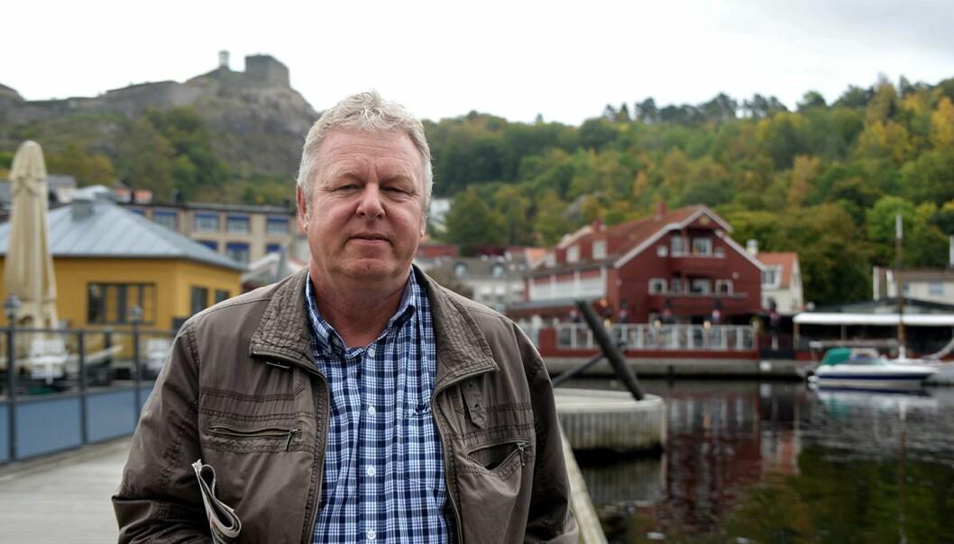 Sjefredaktør Hans-Petter Kjøge i Halden Arbeiderblad.