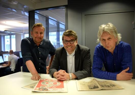 Nyhetsredaktør Rune Eriksen, sjefredaktør Sigvald Sveinbjørnsson og redaksjonssjef Kjell Eirik Mikkelsen i Bergensavisen.