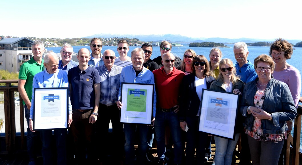 Her er Sunnhordland-gjengen med årets samling av priser og hederlige omtaler fra landsmøtet i LLA!
