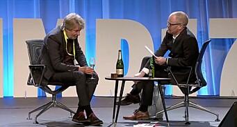 TV: Se Torry Pedersen bli lurt på Nordiske Mediedager - når han får etterfølger Gard Steiro som talkshow-vert