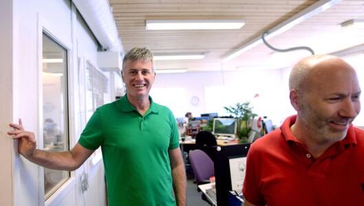 To ledere: Redaktør Magne Kydland og direktør Reidar Hystad.