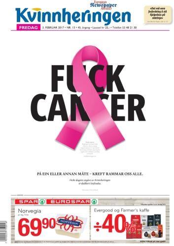 Kvinnheringens spesialutgave om kreft i vinter.