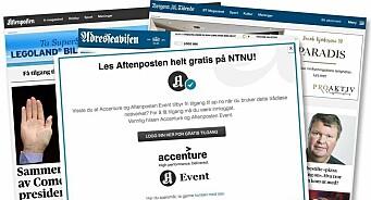 Plutselig fikk alle på NTNU lese Adresseavisen, Aftenposten og andre Schibsted-aviser gratis. Men det var ikke meningen