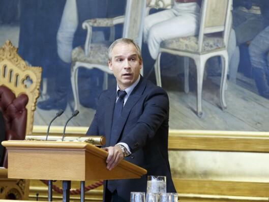 Leder Hans Olav Syversen (KrF) i Finanskomiteen på Stortinget.