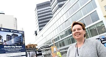 Her er alt er i rute: Etter sommeren skal 1500 mennesker flytte inn i Media City Bergen