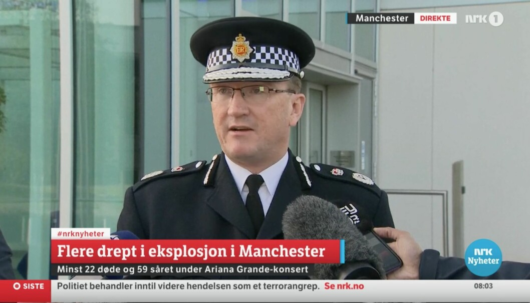 Fra NRKs direktesending tirsdag morgen.