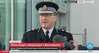 «Politiet oppfordrer til å ikke spekulere i identiteten», melder NRK. Og så spekulerer de selv i at dette er islamistisk terror