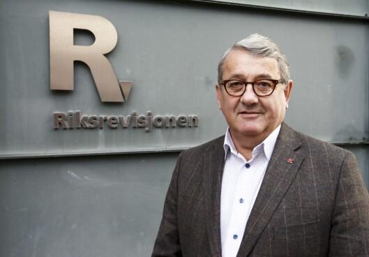 Riksrevisor Per-Kristian Foss presenterte tirsdag rapporten om kontroll med forvaltningen av statlige selskaper.