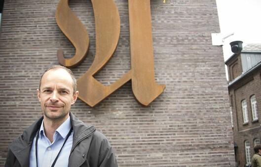 Sjefredaktør Tor Olav Mørseth i Adresseavisen. Her utenfor avisens lokaler i Trondheim sentrum i mai 2017.