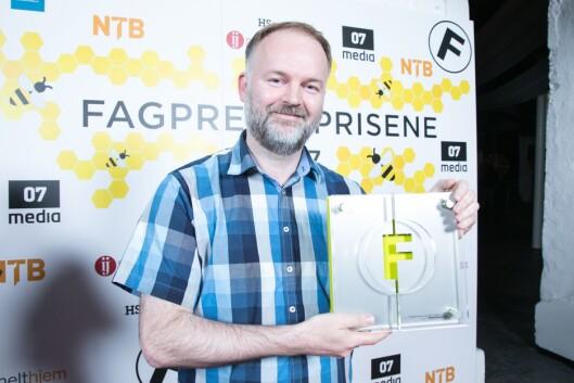 Eirik Helland Urke i Teknisk Ukeblad. Her fra en prisutdeling.