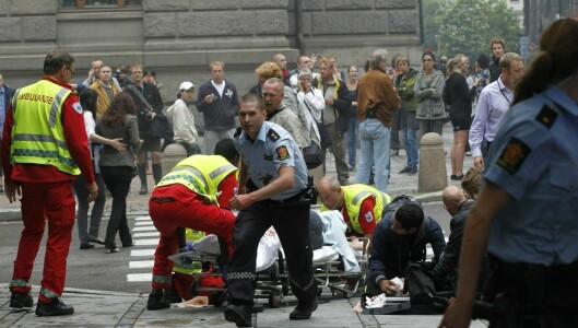 Utøya, Oslo sentrum og «Norge» ble angrepet 22. juli. Her fra regjeringskvartalet etter bomben.