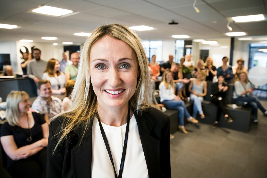 Kirsti Husby ble fredag morgen presentert som ny sjefredaktør i Adresseavisen.