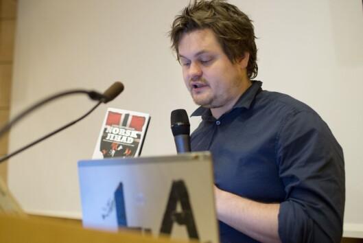 Forfatter og journalist Lars Akerhaug - her på en konferanse om ekstremisme.