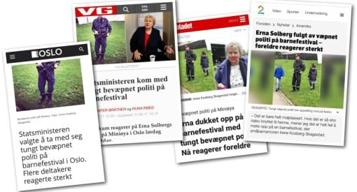 Hvor mange reagerte egentlig på Ernas politivakter? Slurvete journalistikk fra VårtOslo - svakt av VG og Dagbladet