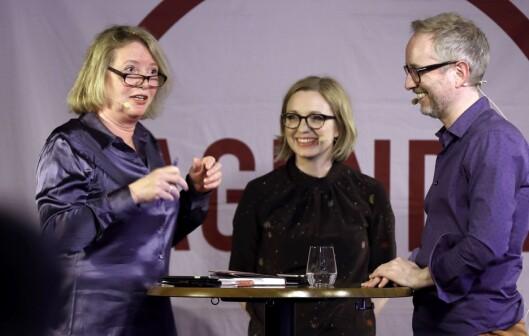 Marie Simonsen - her under en samtale med Sarah Sørheim og Bård Vegar Solhjell.