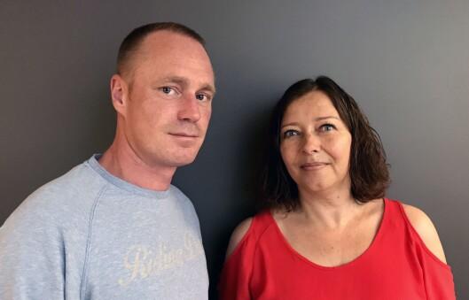 Anders Stavseng og Sonja Nordanger er leder og nestleder for de NJ-organiserte i Aller Media.