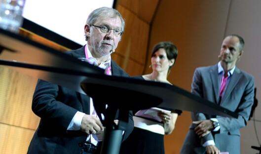 Aftenpostens redaktør og kommentator Harald Stanghelle under debatt på konferansen Medieleder2017 i Trondheim tirsdag.