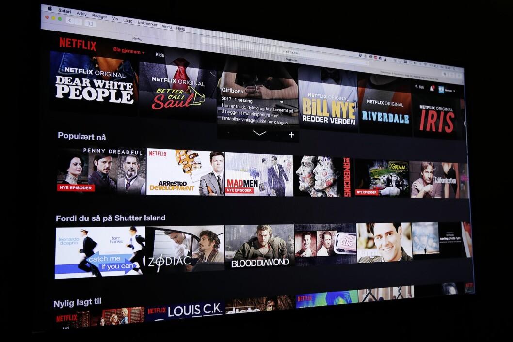 Strømmetjenesten Netflix. Foto: Terje Bendiksby / NTB scanpix