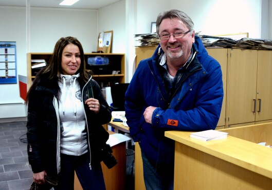 Finnmarksposten utgjør i dag 1,5 årsverk; Journalist Randi Iren Olsen og annonseansvarlig Bjørnar Johansen.