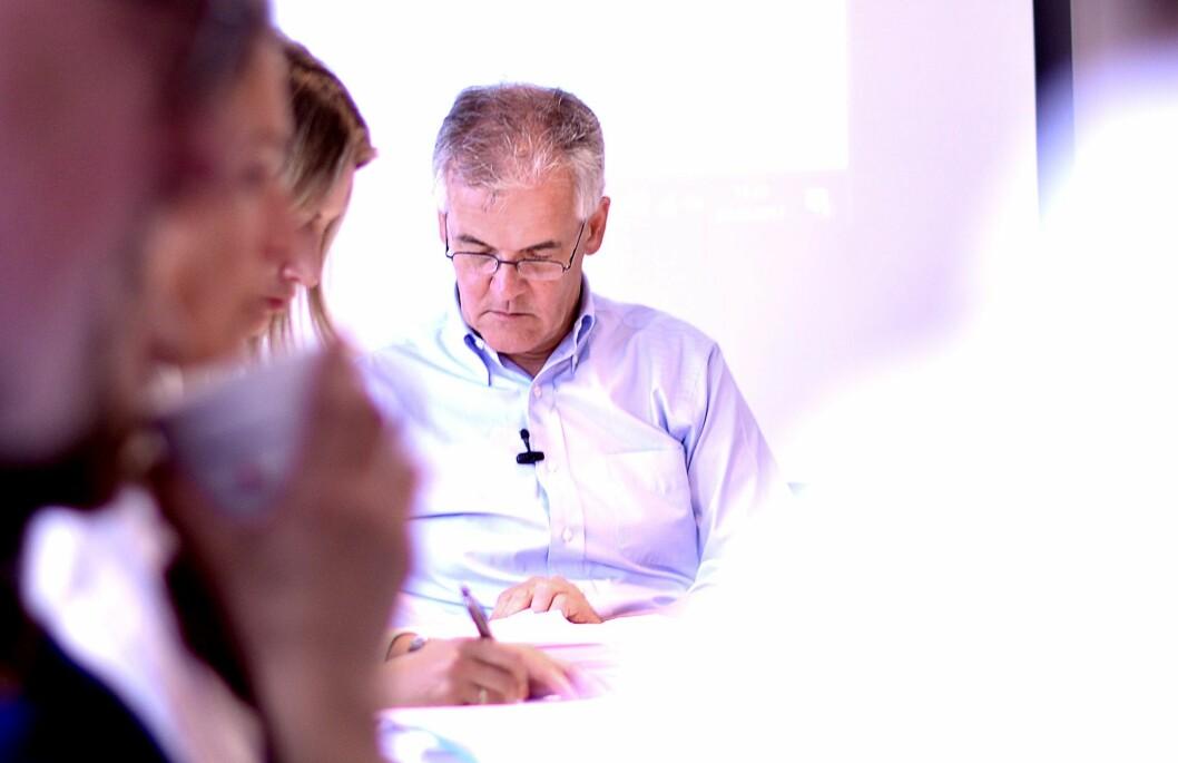 PFU-leder Alf Bjarne Johnsen på et møte tidligere i år.