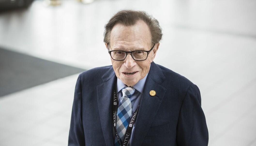 Journalist og programleder Larry King under festivalen Starmus i Trondheim.