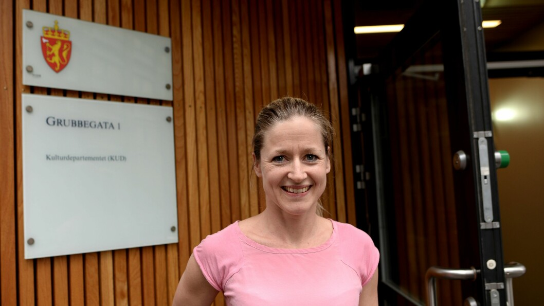 Nina Westgaard, HR- og kommunikasjonsdirektør i Egmont Publishing mener Kulturdepartementet må åpne døra for flere til gunstige avgiftsfritak.