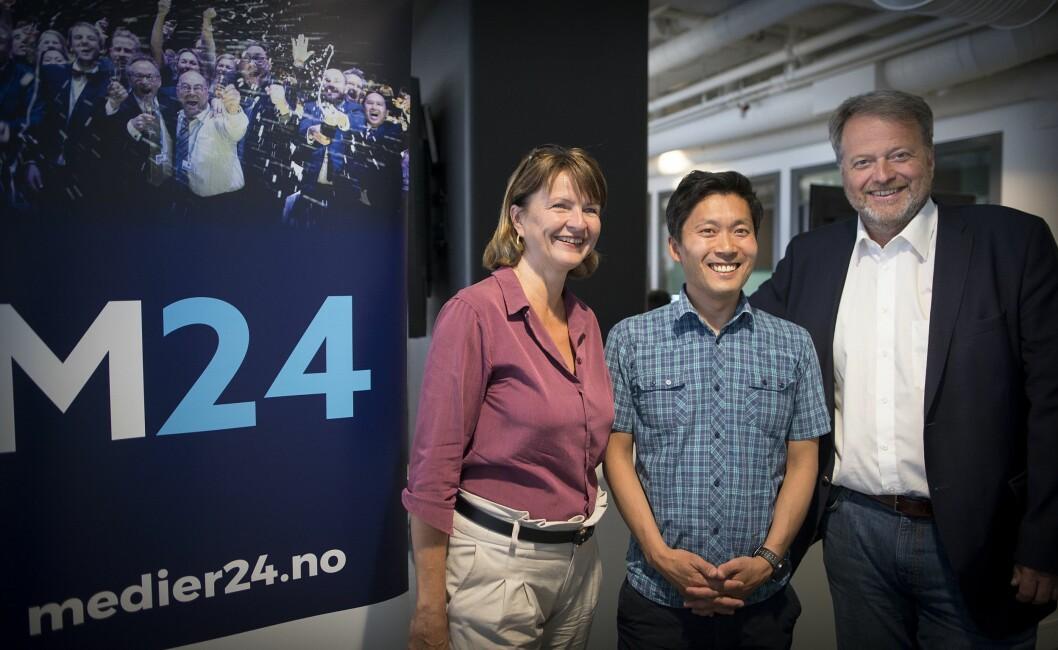 MEDIER24-STYRET: Fra venstre - Nina Refseth, Chul Christian Aamodt og Jan M. Moberg.