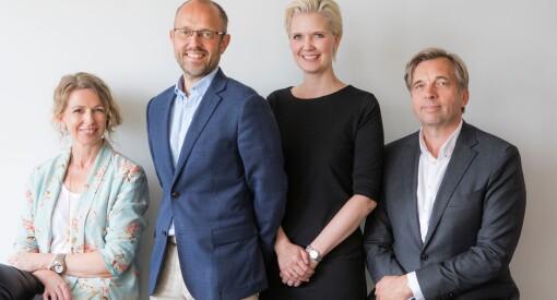 De skal lede 150-åringen inn i framtida: Geir Terje Ruud, Christina Dorthellinger Nygaard og Tina Mari Flem til NTB