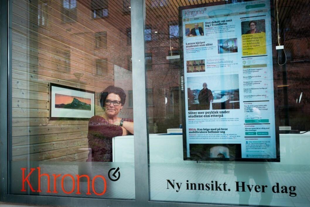 Khrono-redaktør Tove Lie.
