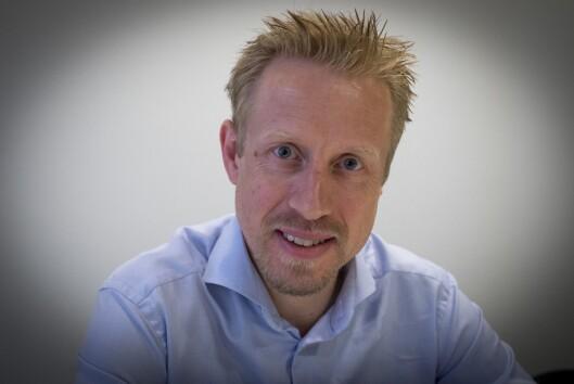 Redaktør Kristoffer Egeberg i Faktisk.no fra deres lokaler i Oslo sentrum.