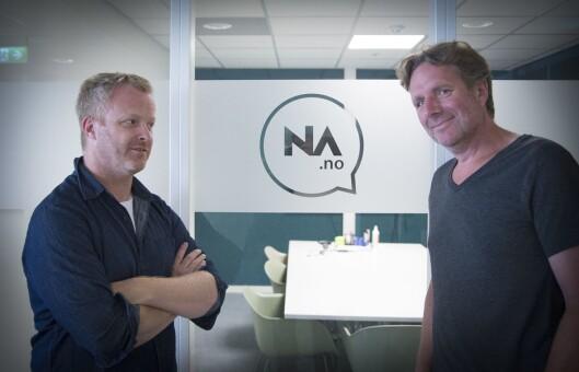 Direktør for innovasjon Pål Nisja-Wilhelmsen og redaktør Anders Høglund i Nettavisen Lyd.
