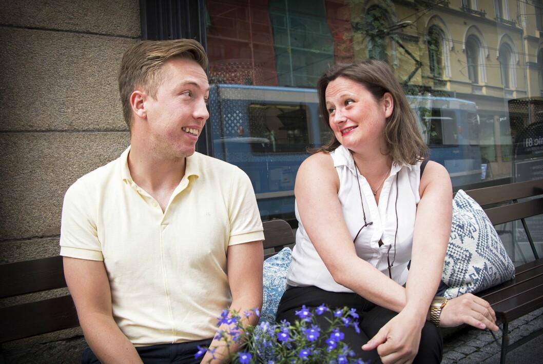 VG-journalistene Lars Joakim Skarvøy og Marie Melgård er Akersgatas ferskeste tabloide duo.