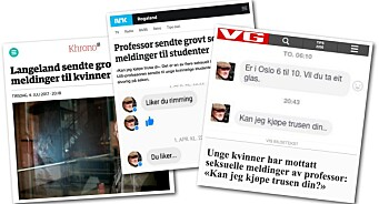 Tirsdag skal PFU behandle klagene mot Khrono, VG og NRK for identifisering og omtale av professorens sex-meldinger