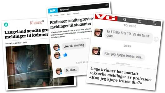 Khrono, VG og NRKs første omtaler av «Langeland-saken».